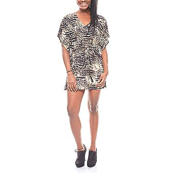 Melrose ladies tunic in the Leopard print