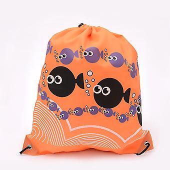 Gymnastik Tasche Rucksack Orange Fisch