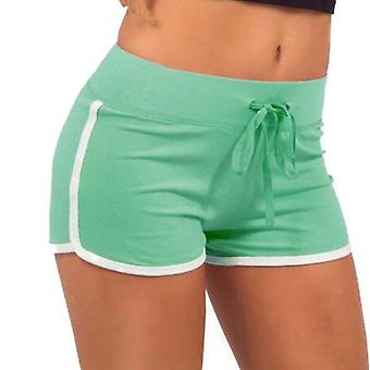 Training shorts for ladies-green and white