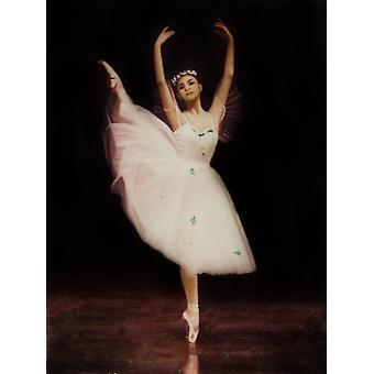 Ballet flickan, oljemålning på duk, 50x60 cm