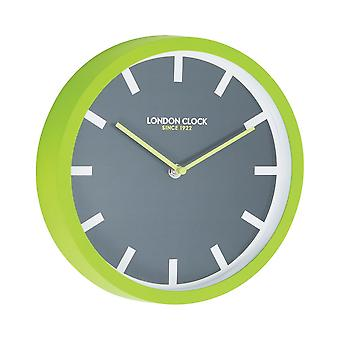 London Pop Pop Lime Green Wall Clock