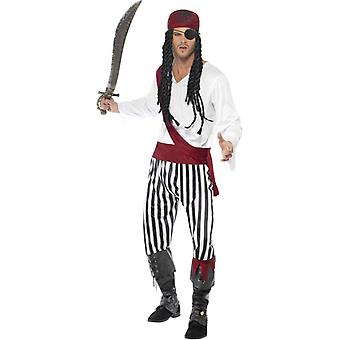 Pirate Man Costume, Chest 38