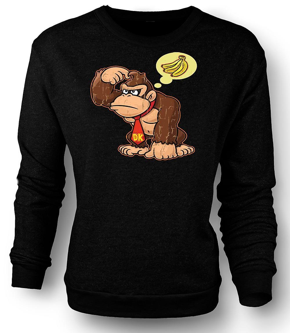 Mens Sweatshirt Donkey Kong bananen - Gamer