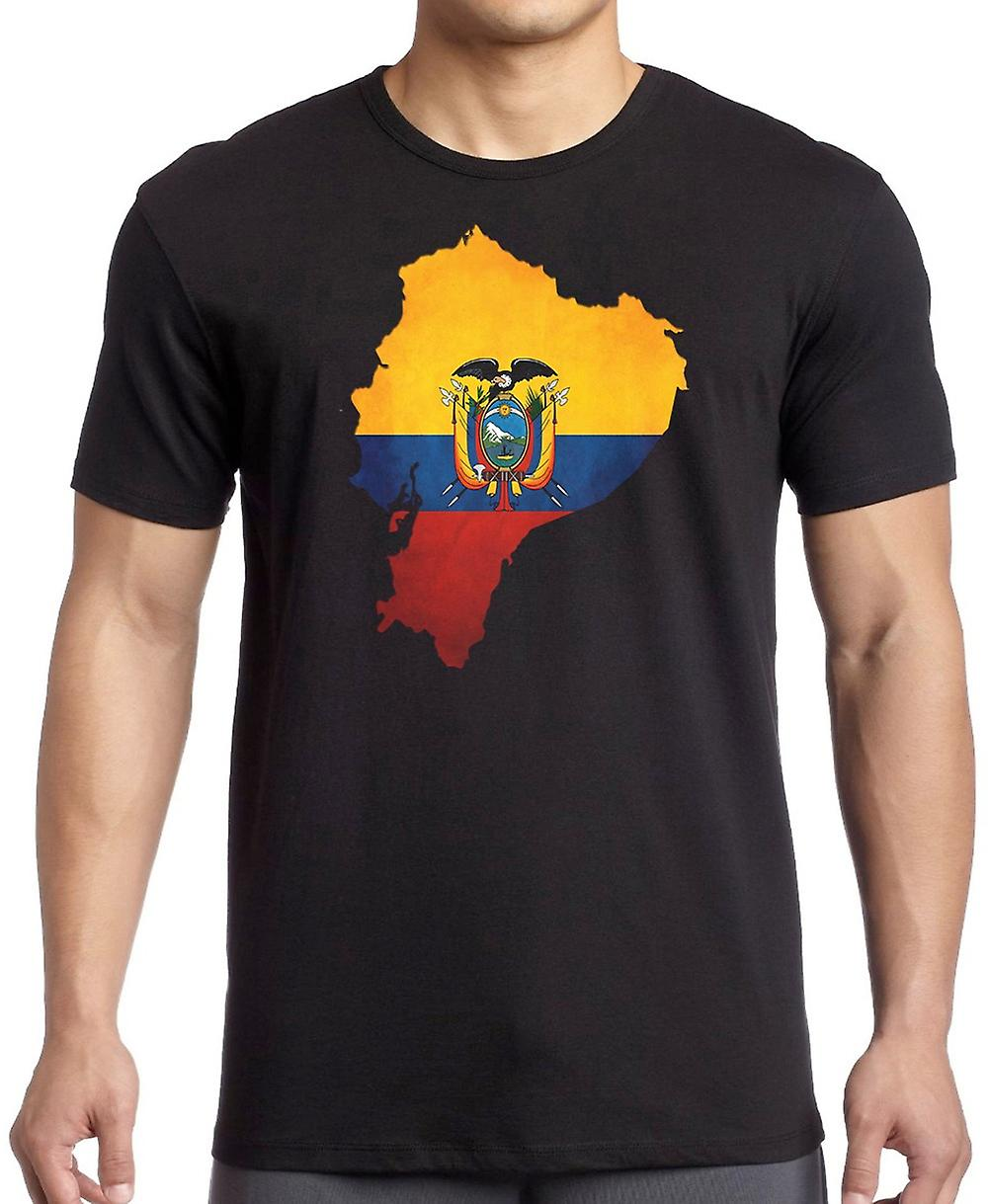 Ecuador_ Ecuadorian Flag Map T Shirt  - 3xl