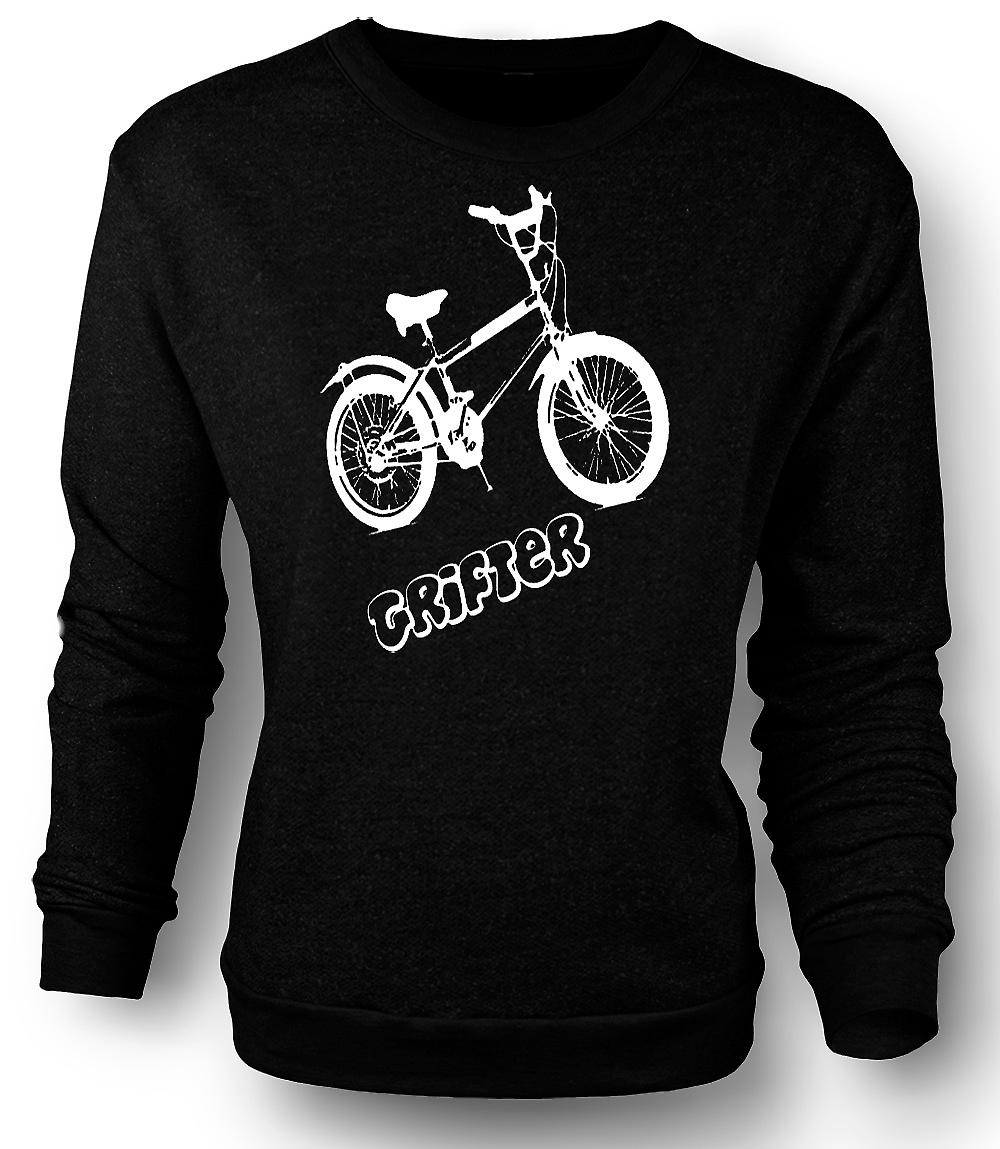 Mens Sweatshirt Grifter - Old Skool Retro Bike