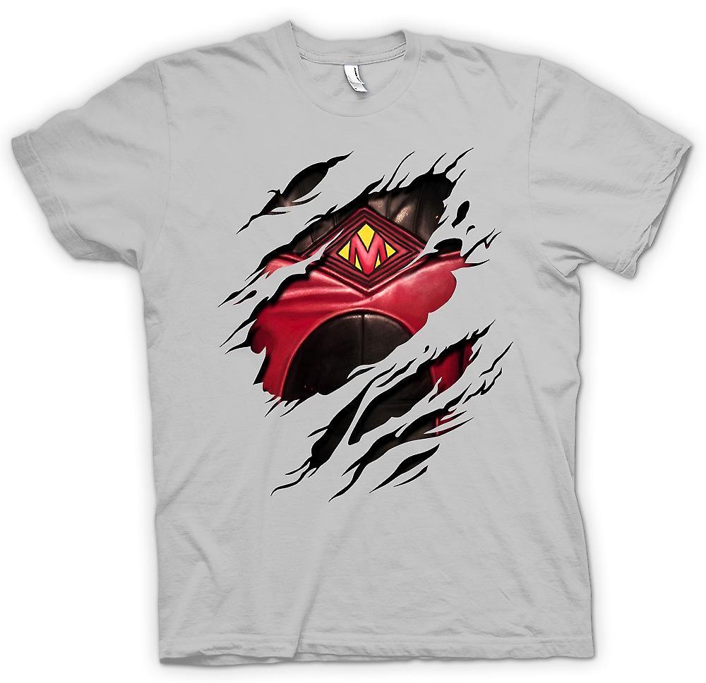 Mens T-shirt - Red Mist Ripped Design - Kickass Inspired Superhero