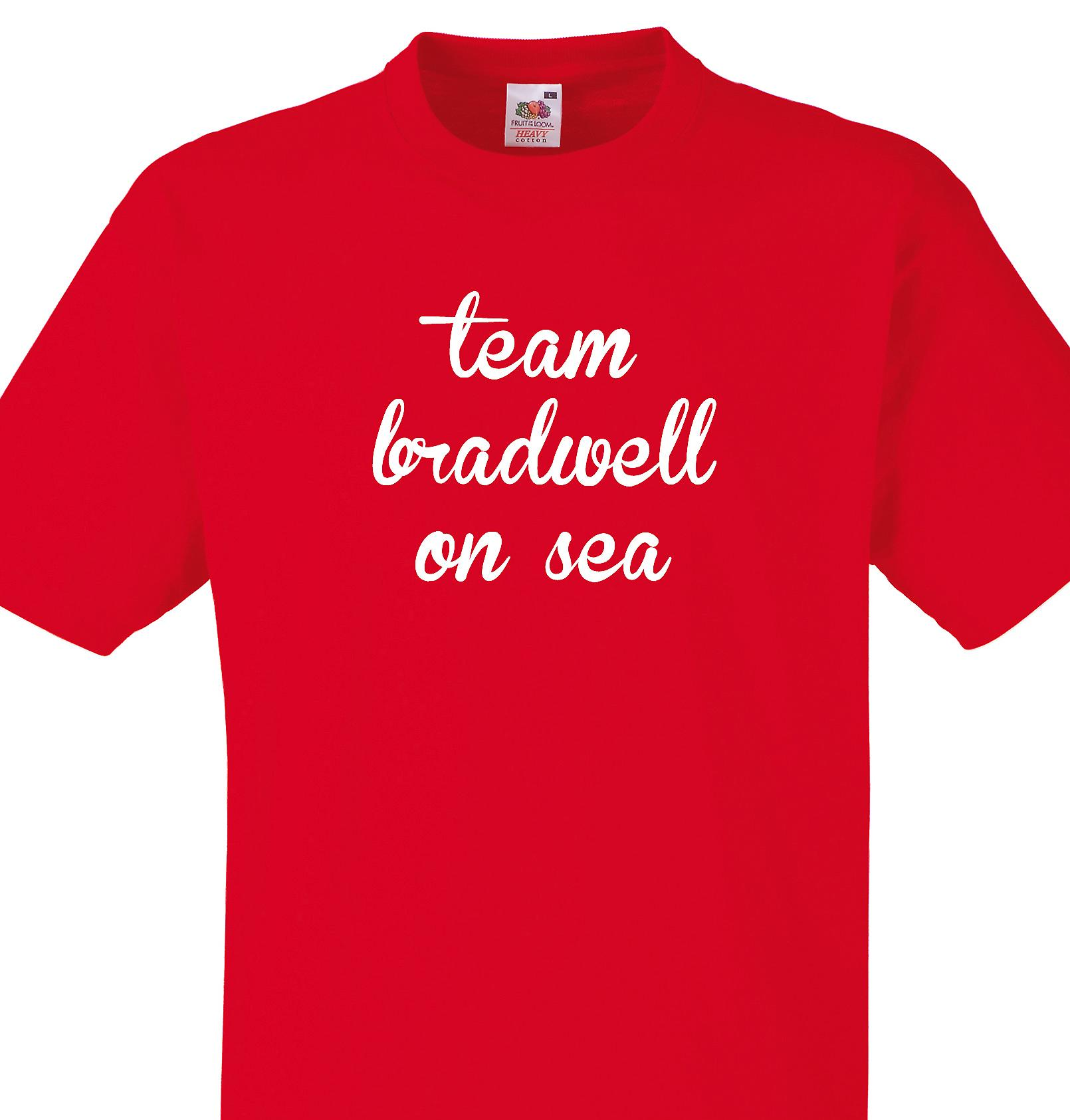 Team Bradwell on sea Red T shirt