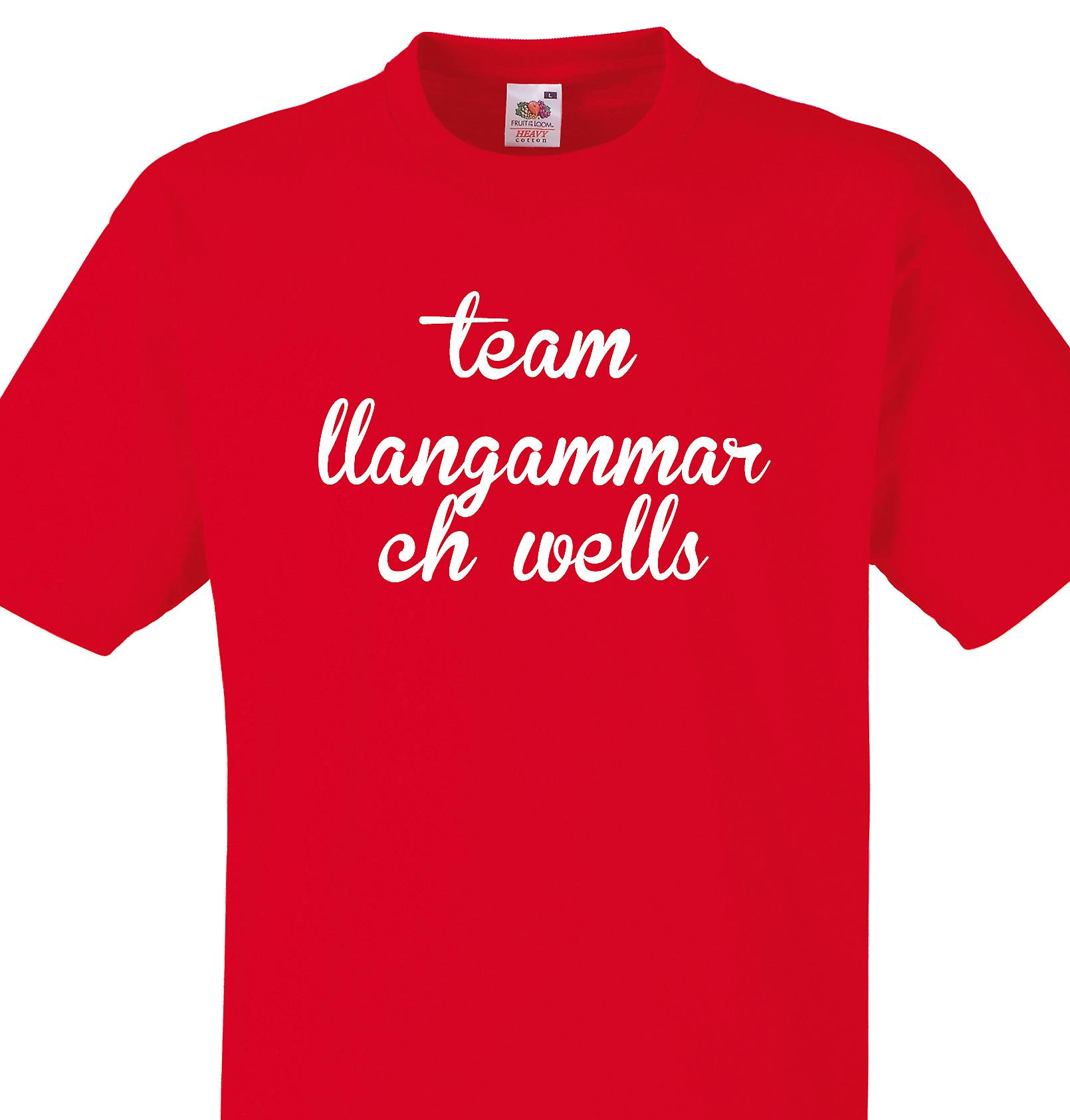 Team Llangammarch wells Red T shirt