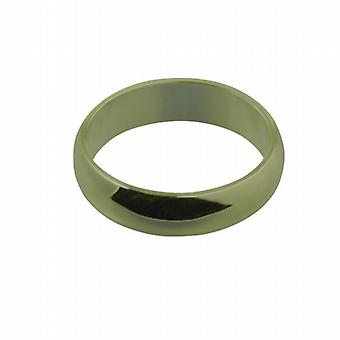 9ct Gold 6mm plain D shaped Wedding Ring Size Q