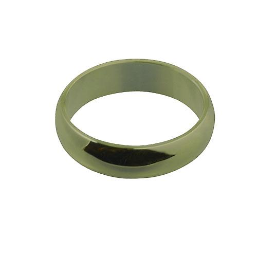 9ct Gold 6mm plain D shaped Wedding Ring
