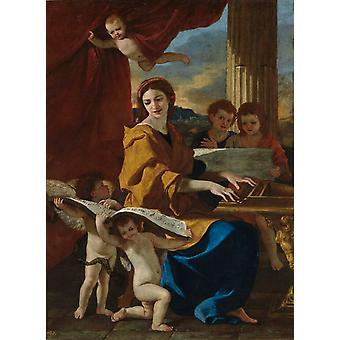 St Cecilia,Nicolas Poussin,50x36cm