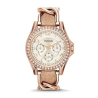 Fossil Womens analog watch with leather ES3466