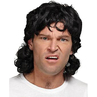 Mullet Wig Black For Men
