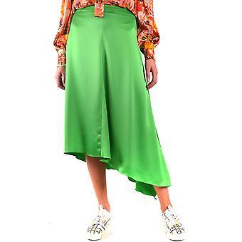 Msgm Green Polyester Skirt