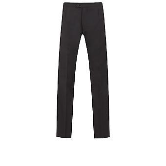 Dobell Mens Black Evening White Tie Trousers 100% Wool Satin Side Stripe