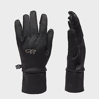 Nueva investigación al aire libre guantes de sensor PL400 para mujer negro