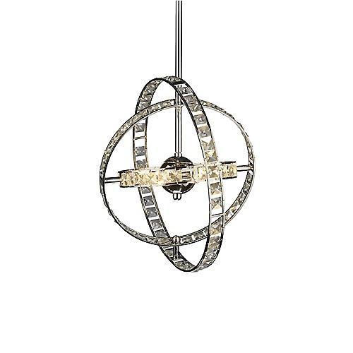 Dar ETE6450 Eternity Modern Polished Chrome 6 Light Ceiling Pendant - 48cm