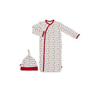 Magnetic Me™ by Magnificent Baby  Modal  Baby Gown & Hat Set