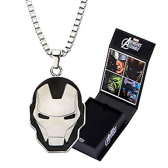 Avengers Iron Man Stainless Steel Cut-Out Face Pendant