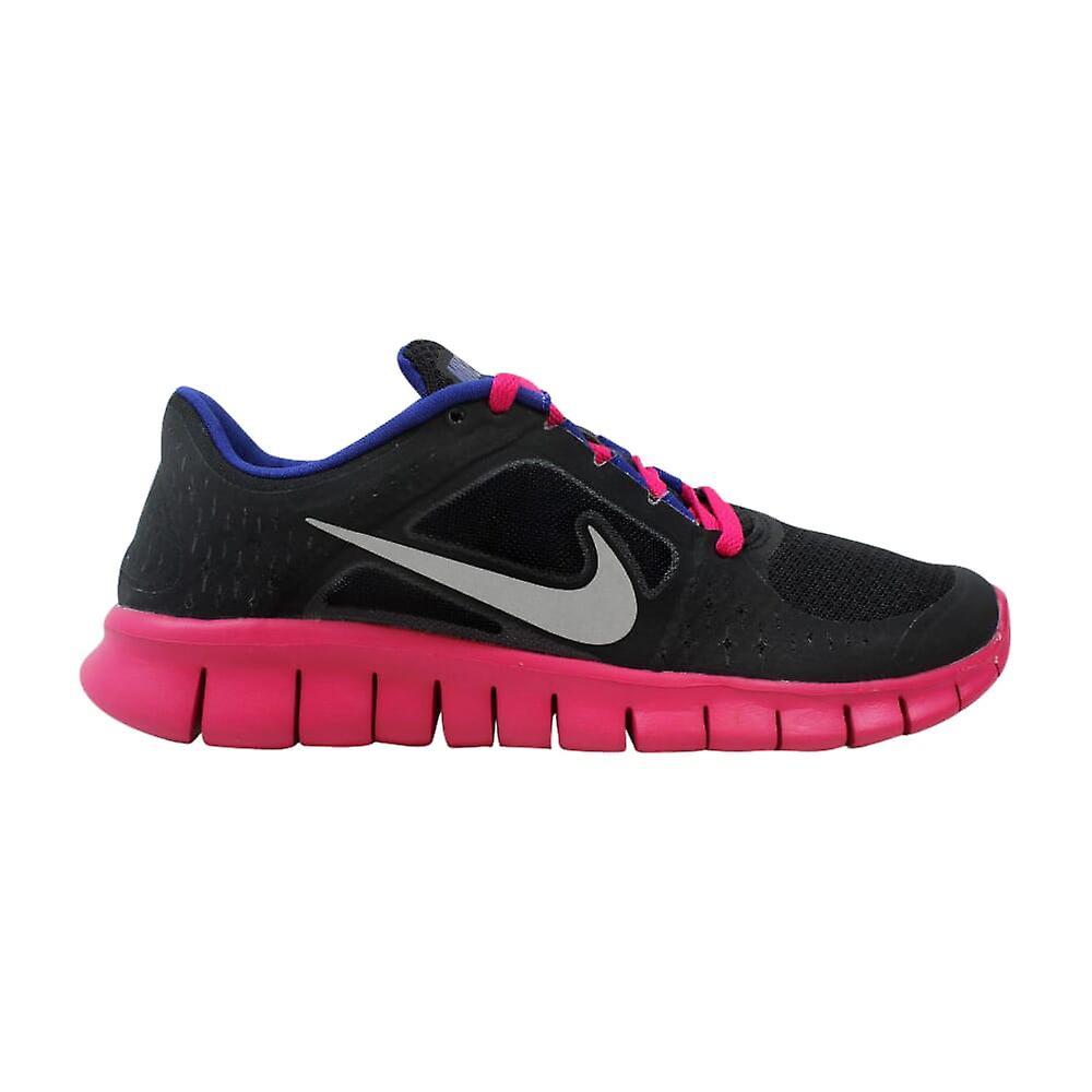 Nike Libre courir III 3 GS noir Reflect argent-Fireberry 512098-004 grade-School