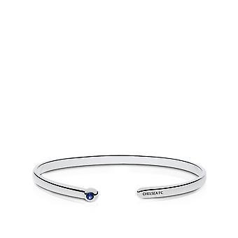Chelsea Fc Chelsea Fc Engraved Sapphire Cuff Bracelet