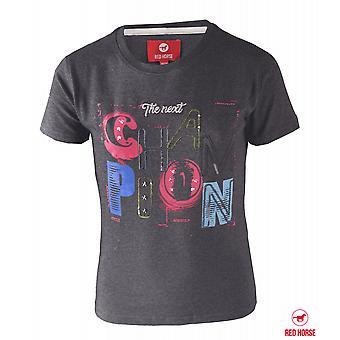 Horka Childrens T-shirt met print-grijs/zwart