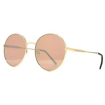 French Connection Oversized Round Sunglasses - Light Gold