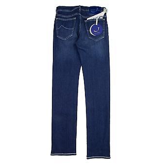 Jacob Cohen J688 Blue Patch Jeans Medium Indigo