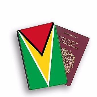 GUYANA Flag Passport Holder Style Case Cover Protective Wallet Flags design