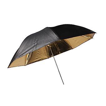 BRESSER SM-01 reflecterende paraplu zwart/goud 101cm