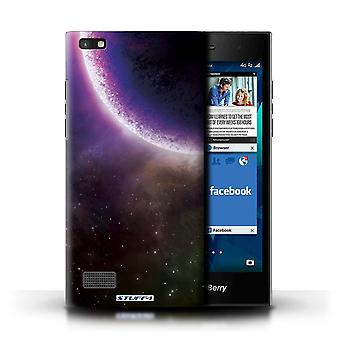 STUFF4 Case/Cover for Blackberry Leap/Purple Eclipse/Space/Cosmos