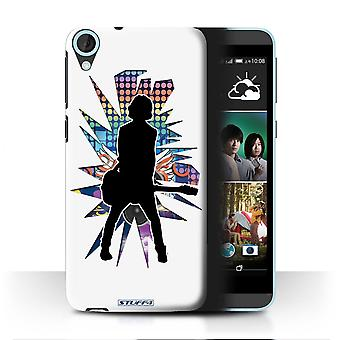 STUFF4 Case/Cover for HTC Desire 820s Dual/Emotion White/Rock Star Pose