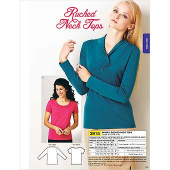 Ruched Neck Tops  Xs  S  M  L  Xl Pattern K3915