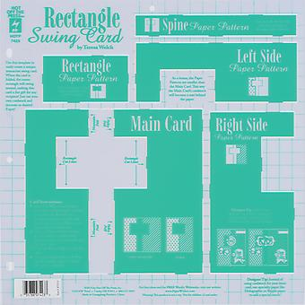 Hot Off The Press Template Rectangle Swing Card 73 12N 7423