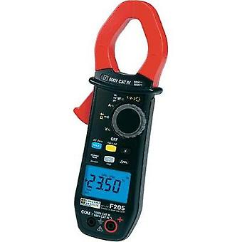 Current clamp, Handheld multimeter digital Chauvin Arnoux F205 Calibrated to: Manufacturer standards CAT III 1000 V, CA