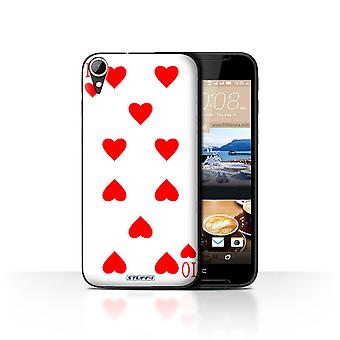 STUFF4 Case/Cover for HTC Desire 830/10 of Hearts/Playing Cards