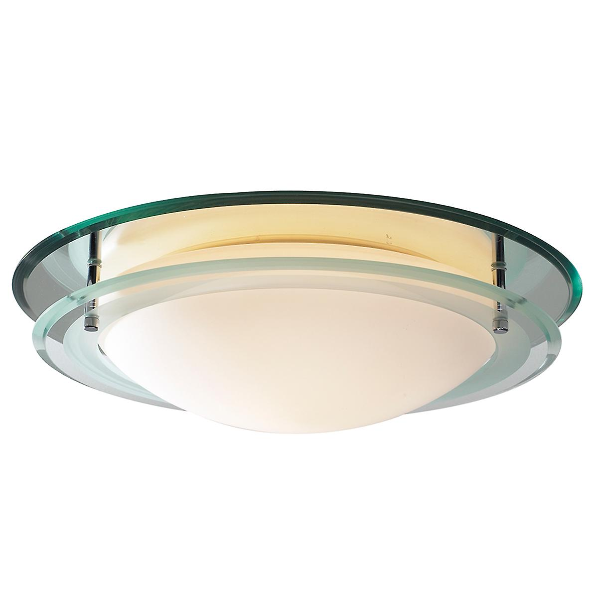 Dar OSI502 Osis Mirrored Flush Bathroom Light Ip44 Rated