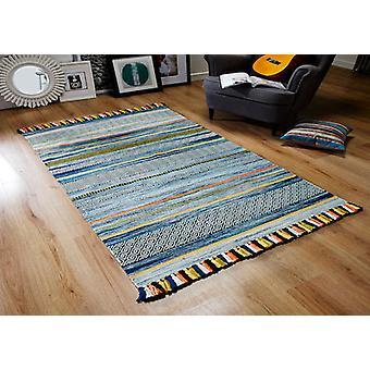Kelim STREIFEN BLAUEN Rechteck Teppiche moderne Teppiche