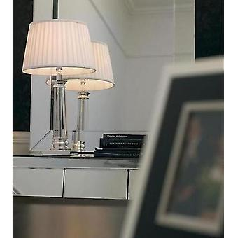 Endon BOUCHET Chrome And Crystal Table Lamp