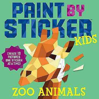 Workman Publishing-Paint By Sticker Kids Zoo WO-18960