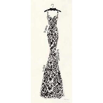 Couture Noir  Original II Poster Print by Emily Adams (10 x 20)
