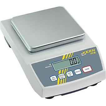 Precision scales Kern PCB 1000-2 Weight range 1 kg Readability 0.01 g mains-powered, battery-powered, rechargeable Silve