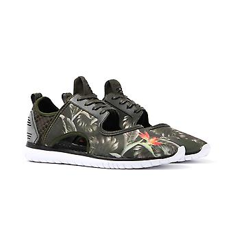 Cortica Epic Sneaker Khaki Floral Neoprene Cut Out Trainers