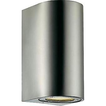 Outdoor wall light HV halogen GU10 70 W Nordlux Canto Maxi 77561034 Stainless steel