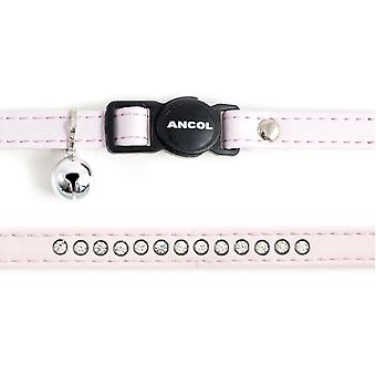Safety Buckle Cat Collar Deluxe Jewel Baby Pink (Pack of 3)