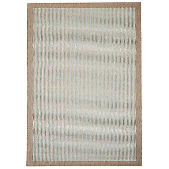 Moderne geometrisk blå spisestue tæppe - Floorit