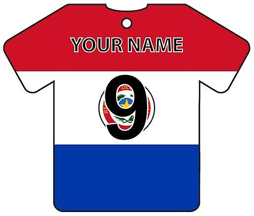Personalised Paraguay Flag Jersey Car Air Freshener