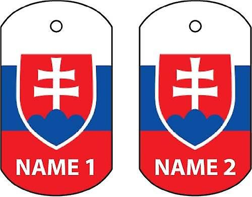 Personalised Slovakia Dog Tag Car Air Freshener