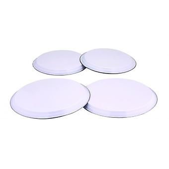 COLOURS 4pc Electric Gas Cooker Hob Cover Set Stainless Steel - White