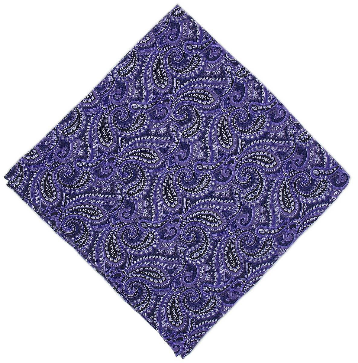 Michelsons of London All Over Paisley Silk Handkerchief - Purple